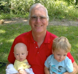 Ross Simpson enjoying being a grand-dad