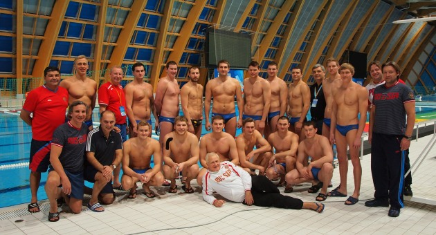 Russian men's water polo squad