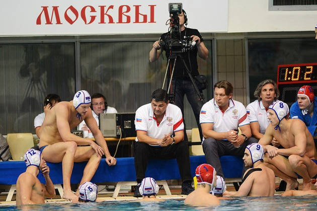 During the match in Moscow